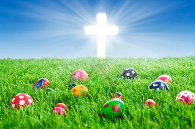 easter-eggs-cross-grass-29033403